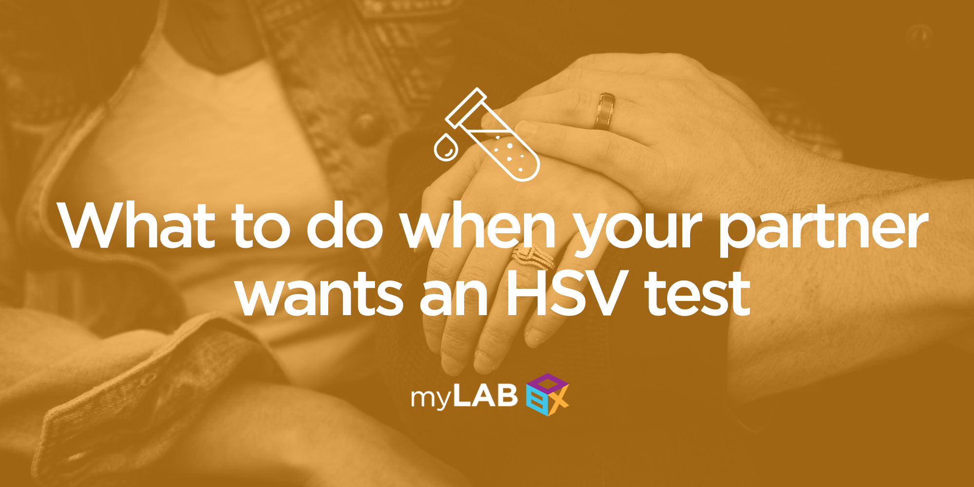 What to do when your partner wants an HSV test