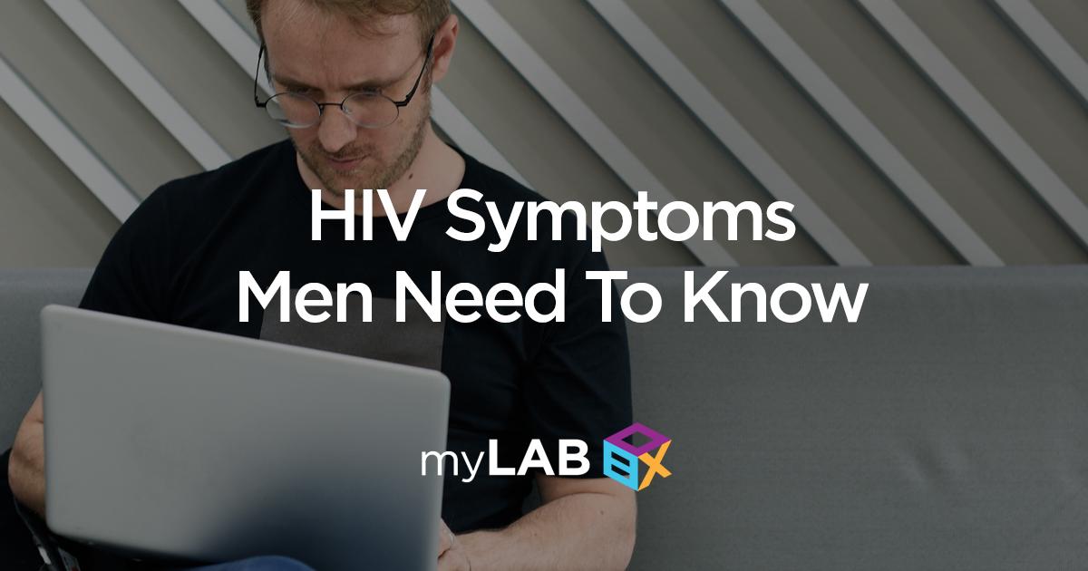 HIV symptoms men